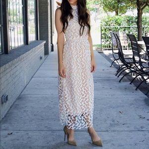 Dresses & Skirts - White crochet sleeveless dress